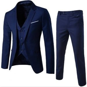 beb12332fc2ddf Other - Three-piece Navy Blue Party Men's Suit